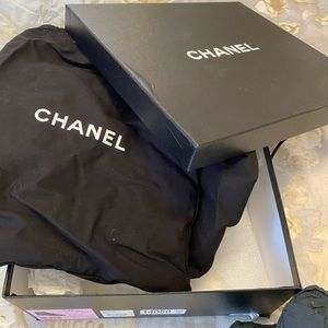 Chanel size 41 Navy Blue Charm Booties.